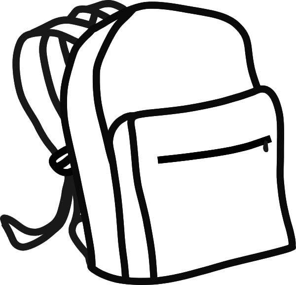 Backpack Outline Coloring Pages