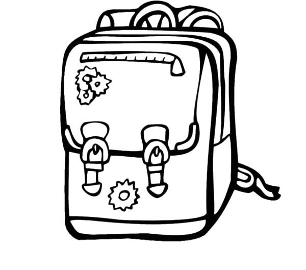 Backpack, : Backpack for Kindergarten Kids Coloring Pages