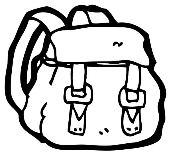 Backpack with Two Straps Coloring Pages | Best Place to Color