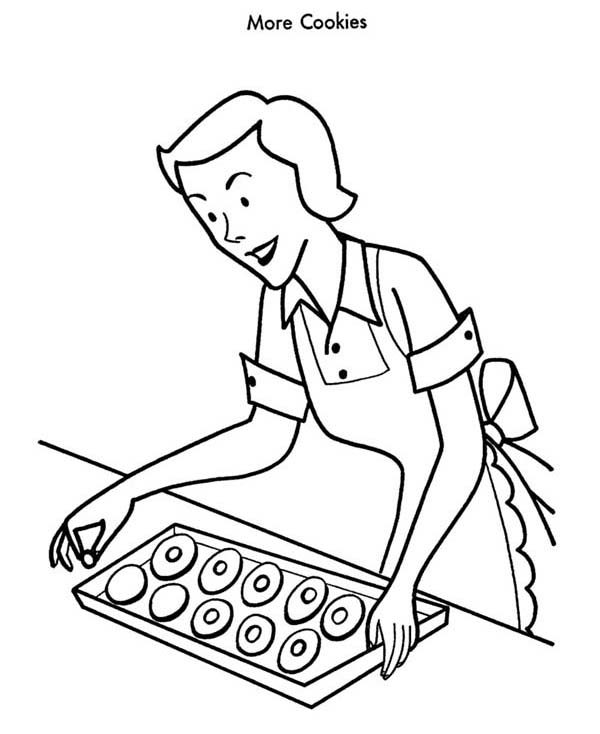 Baking Cookies, : Baking Cookies for Christmas Guess Coloring Pages