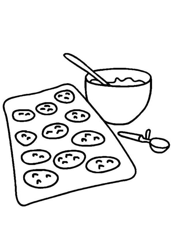 Baking Cookies, : Baking Cookies is Done Coloring Pages