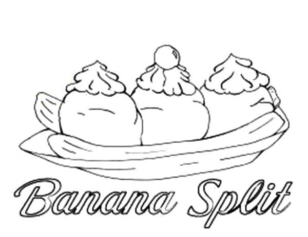 Banana Split, : Banana Split Coloring Pages