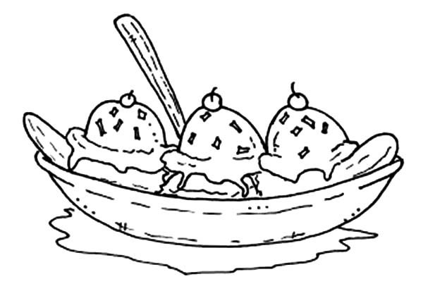 Banana Split Coloring Pages for Kids Best Place to Color