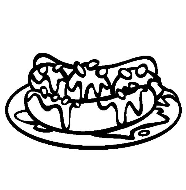 Banana Split, : Banana Split on Plate Coloring Pages