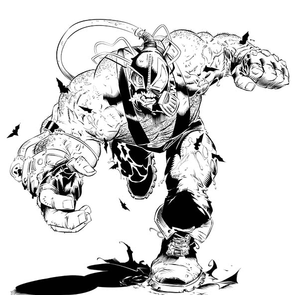 Bane dark knight rises free coloring pages for Bane coloring pages