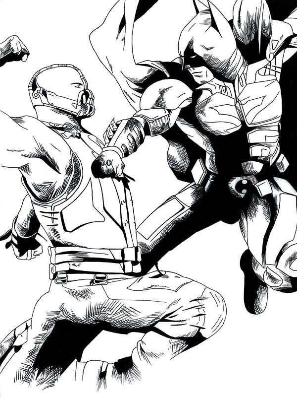 Bane Batman, : Bane Batman Punching Each Other Coloring Pages