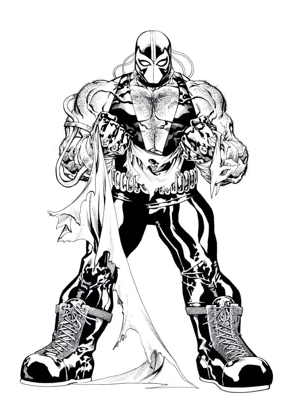 Bane Batman, : Bane Batman Ripped His Clothes Coloring Pages
