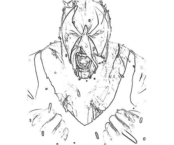 Bane Batman, : Bane Batman Screaming Coloring Pages