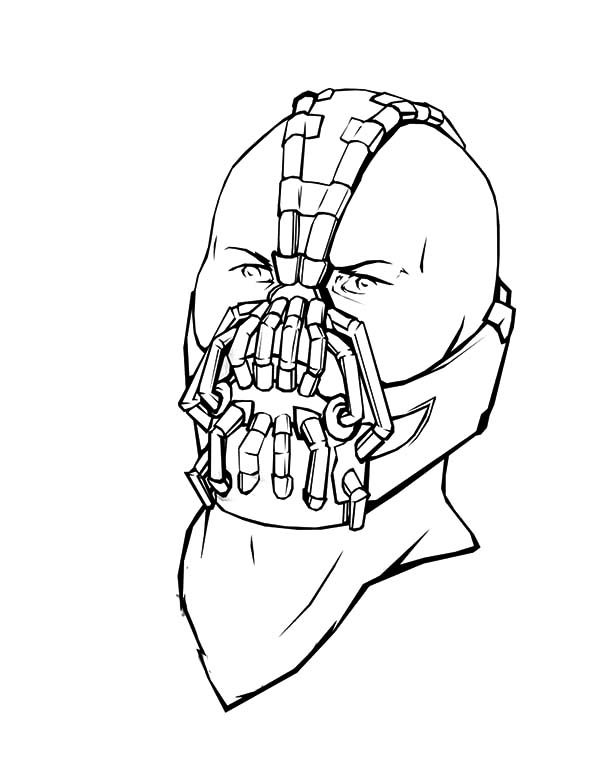 Bane Batman, : Bane Batman Special Breathing Mask Coloring Pages