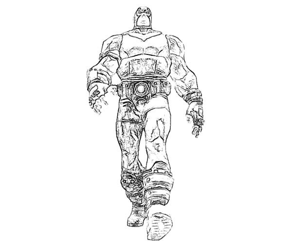 Bane Batman, : Bane Batman Standing Tall Coloring Pages