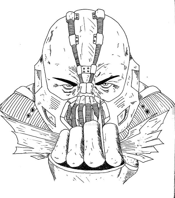 Bane Batman, : Bane Batman Tom Hardy Coloring Pages