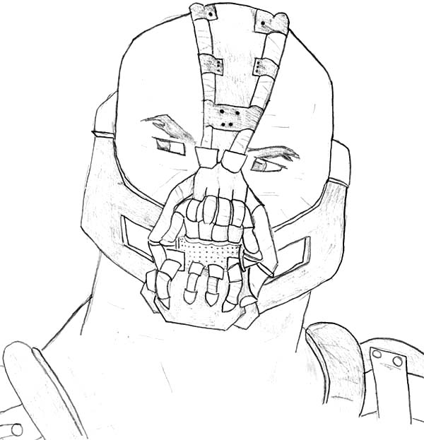 Bane Batman from the Dark Knight Rises Coloring Pages