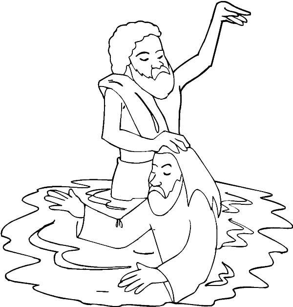 Baptism, : Baptism of Our Saviour Coloring Pages