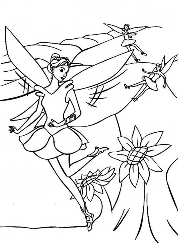 Barbie as Elina in Barbie Barbie Fairytopia Series Coloring Pages ...