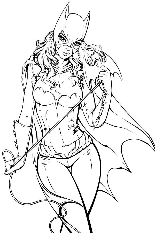 Batgirl, : Batgirl Anchor Coloring Pages