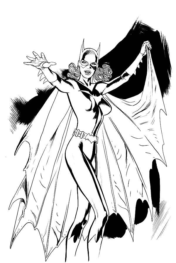 Batgirl, : Batgirl Coloring Pages