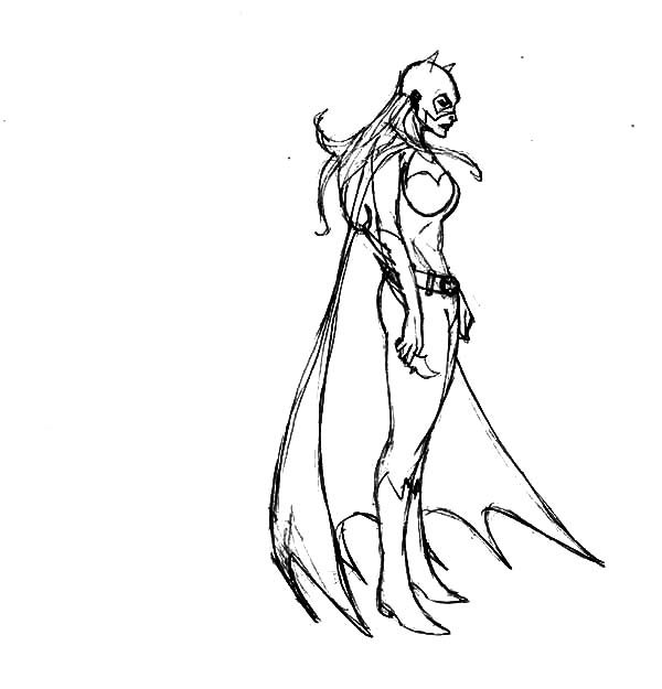 Batgirl, : Batgirl Feeling Down Coloring Pages