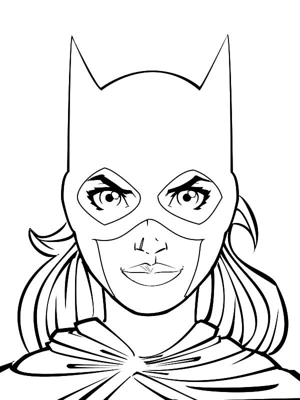 Batgirl, : Batgirl Head Picture Coloring Pages