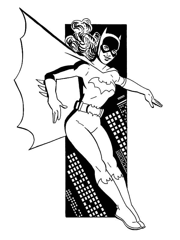 Batgirl Helping Batman Coloring Pages | Best Place to Color