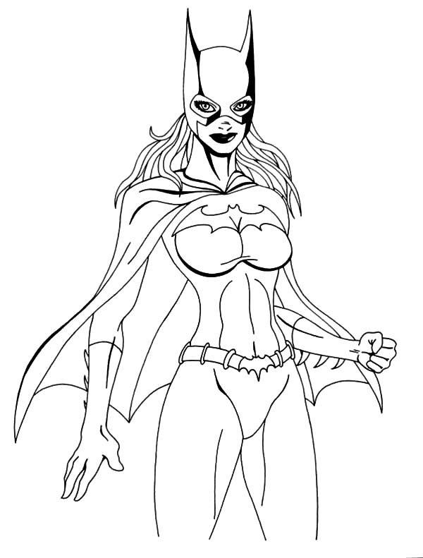 Batgirl, : Batgirl Sidekick Coloring Pages