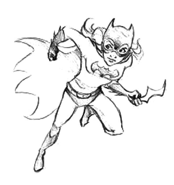 Batgirl Weapon Coloring Pages