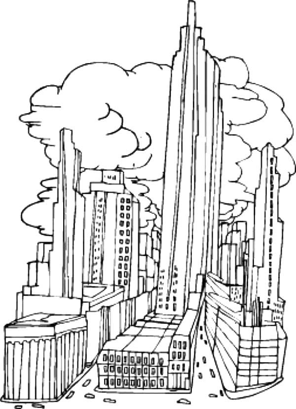 Apartment, : Big City Apartment Coloring Pages