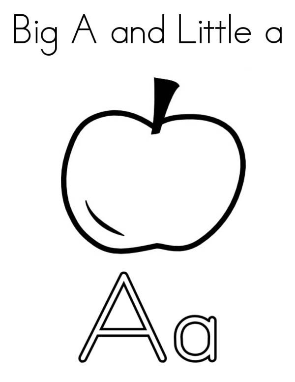 Letter A, : Big Letter A and Little Letter a Coloring Page