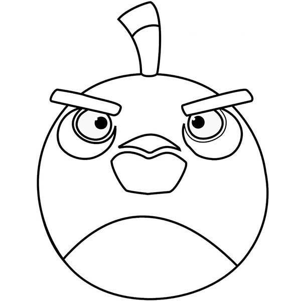 Angry Bird, : Bombing Angry Bird Coloring Pages