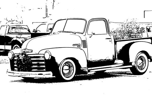 Antique Car, : Buick Antique Car Coloring Pages