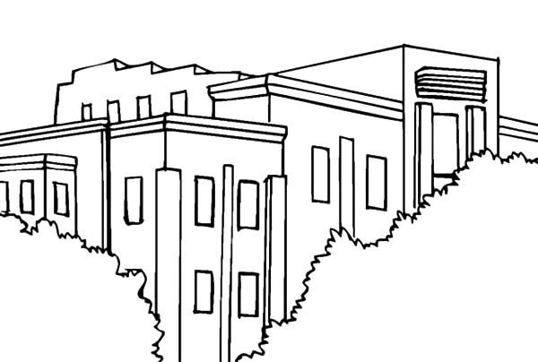 Apartment, : Buying Apartment Coloring Pages