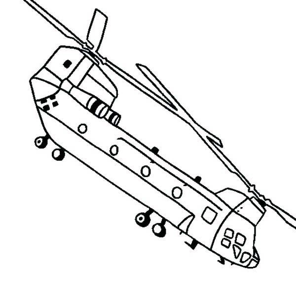 Apache Helicopter, : CH 47SD Chinook Apache Helicopter Coloring Pages