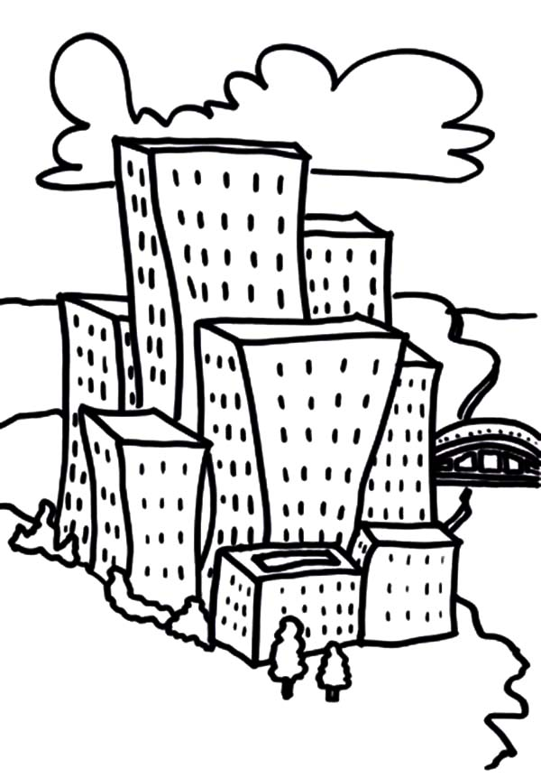 coloring pages apartment buildings photo28