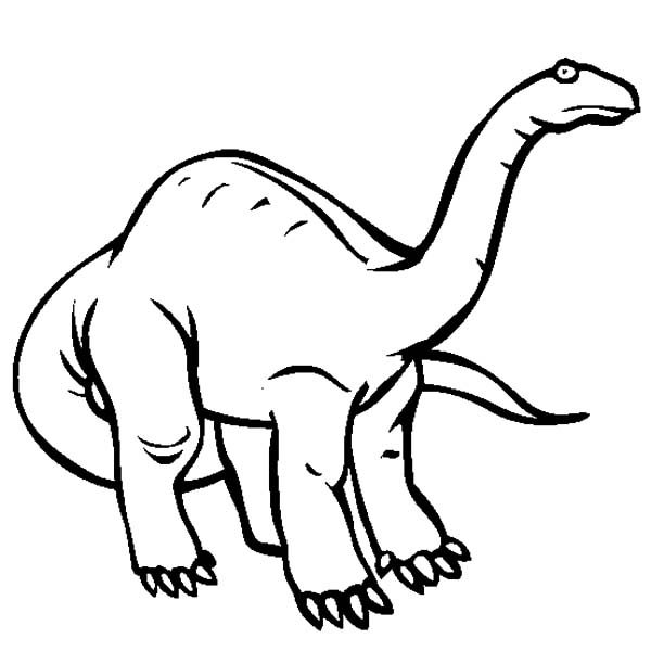 Apatosaurus, : Cautious Apatosaurus Coloring Pages