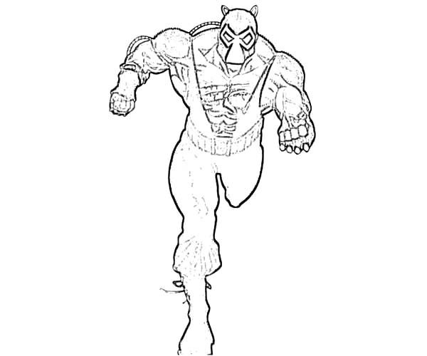 Bane Batman, : Chasing Bane Batman Coloring Pages