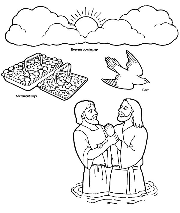Jesus Baptism Free Colouring Pages Baptism Coloring Pages