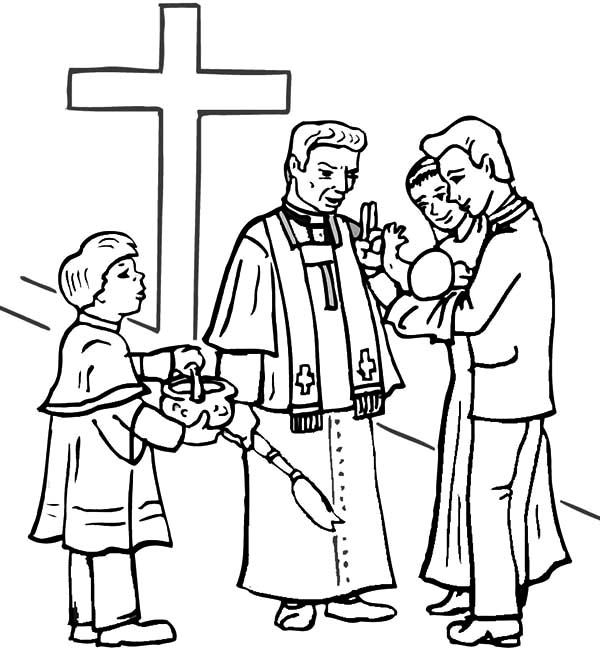 Christening Free Colouring Pages Baptism Coloring Pages