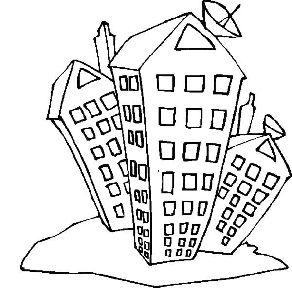 Apartment, : College Student Apartment Coloring Pages