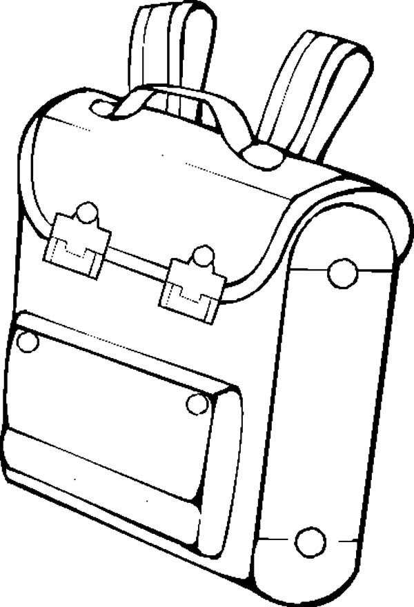Backpack, : Cute Backpack Coloring Pages
