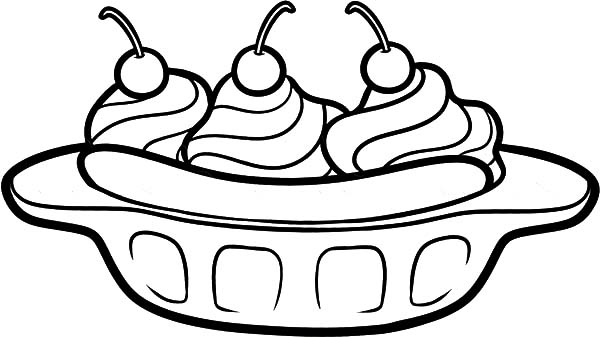 Delicious Banana Split Coloring Pages: Delicious Banana Split ...