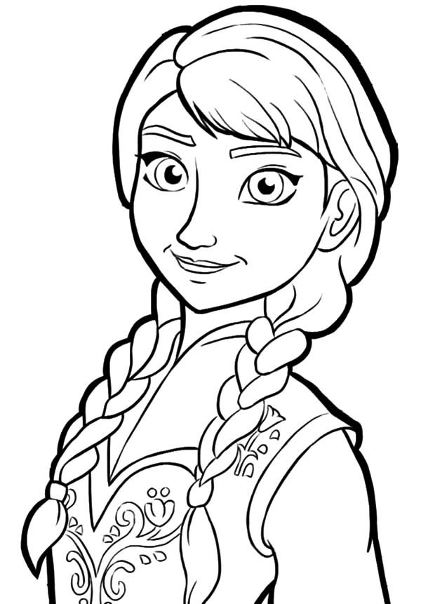 Anna, : Disney Frozen Princess Anna Coloring Pages