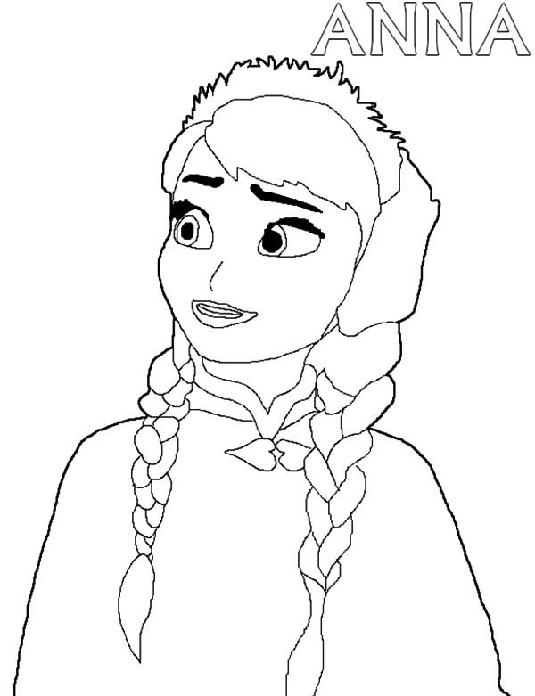 Anna, : Disney Pixar Frozen Princess Anna Coloring Pages