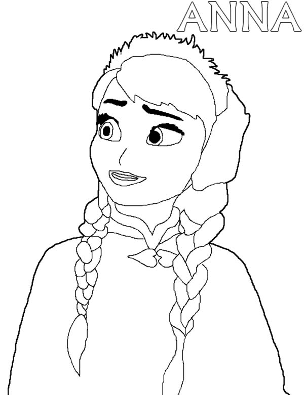 Frozen Coloring Pages Anna Face : Frozen anna face coloring pages