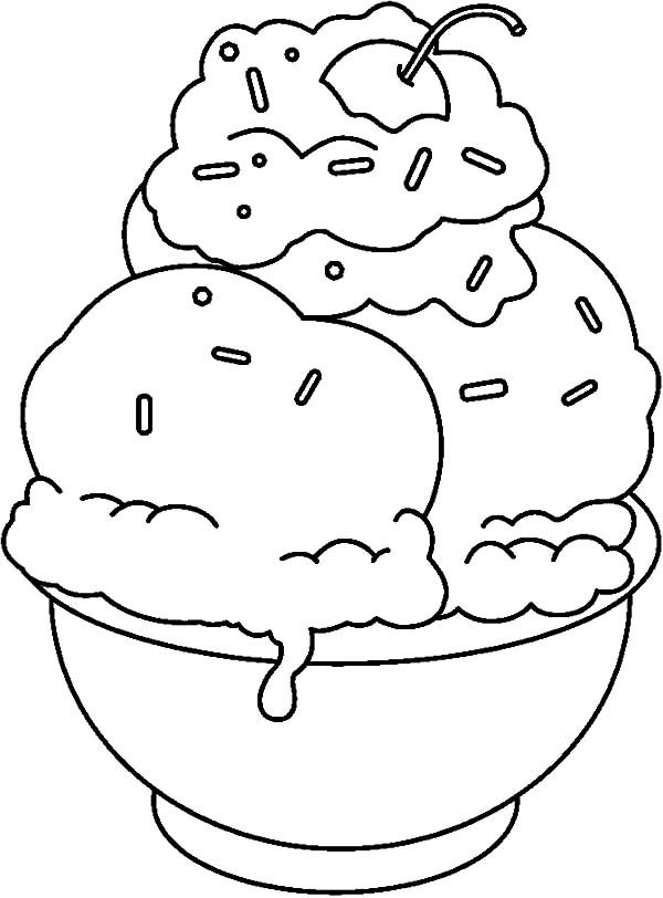 Do it Yourself Banana Split Coloring Pages | Best Place to Color