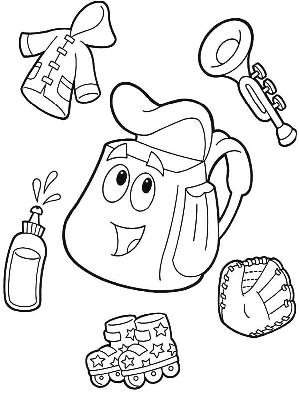 Dora the Explorer Backpack Coloring Pages Best Place to Color
