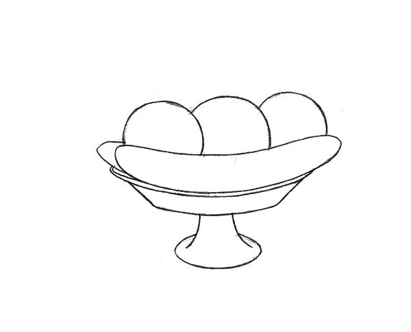 Banana Split, : Draw the Banana Split Outline Coloring Pages