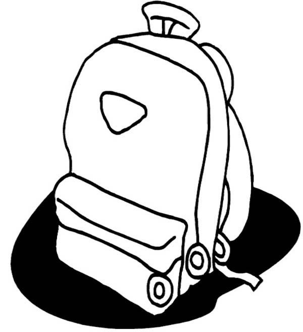 Backpack, : Drawing Backpack Coloring Pages