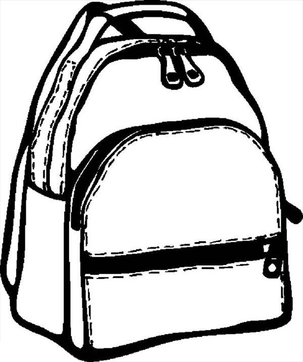 Backpack, : Education School Backpack Coloring Pages