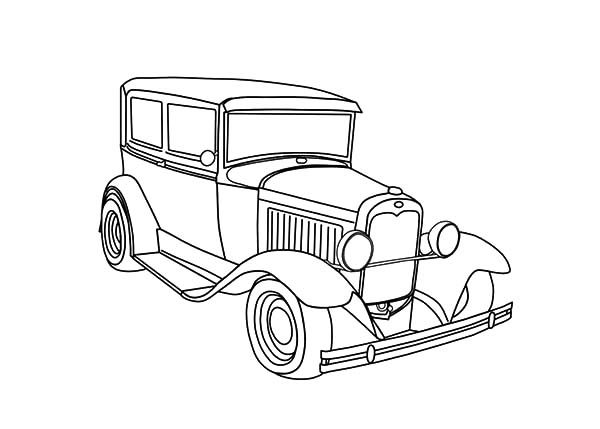Antique Car, : Expensive Antique Car Coloring Pages