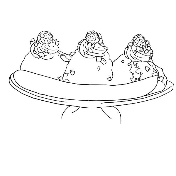 Banana Split, : Favorite Banana Split Coloring Pages