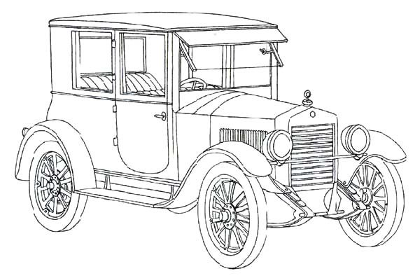 ford model t antique car coloring pages